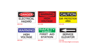 <font color=blue>INDUSTRIAL<br>SAFETY SIGNS</font>