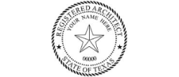 Texas Registered<BR>Architect Products