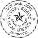Texas round notary stamp. Self inking Texas round notary rubber stamp. Fast Shipping