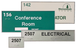 <font color=red>ADA FACILITY<BR>SIGNS
