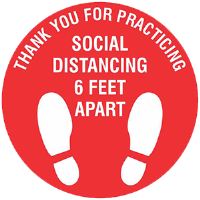 BA-CV1006D - <font color=red><B>CV-1006D<BR>Social Distancing<BR>Floor Decal</ font>