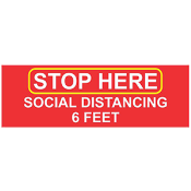 BA-CV1007D - <font color=red><B>CV-1007D<BR>Socal Distancing<BR>Floor Decal</font>