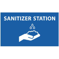 BA-CV1015D - CV-1015 Covid-19<BR>Sanitizer Station<BR>Wall Decal
