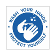 BA-CV1017 - CV-1017 Covid-19<BR>Wash Your Hands<BR>Wall Sign