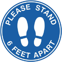 BA-CV1012D - CV-1012D Covid-19<BR>Please Stand 6ft<BR>Apart Floor Decal