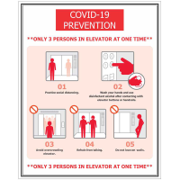 BA-CV1016 - CV-1016 Covid-19<BR>Elevator<BR>Prevention Sign