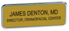 J60 - J60 Gold Frame Name<BR>Badge - Up to<BR>2 Lines of Text.