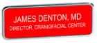 J65 - J65 Gold Frame Name<BR>Badge - Up to<BR>3 Lines of Text