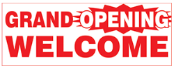 """Celebrate your business with a """"Grand Opening Banner"""". Fast service, call today"""