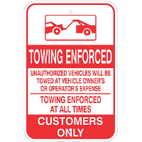 Towing Enforced Parking Sign