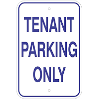 Aluminum Tenant Parking Sign