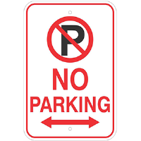 Aluminum No Parking Sign