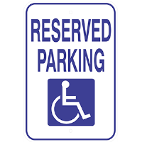 Aluminum Handicap Parking Sign