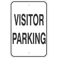 "Aluminum Visitor Parking Sign. 12""w x 18""H"